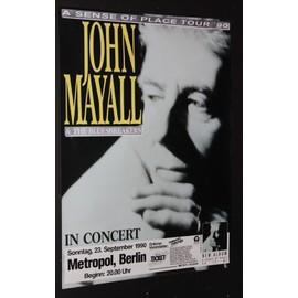John Mayall - & the blues breakers - John Mayall - & the blues breakers A sense of Place Tour 90' - AFFICHE / POSTER envoi en tube - 59x84cm