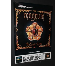 Magnum - Magnum + Guests The Cross - The Spirit 1991 Original Concert Tour Poster - AFFICHE / POSTER envoi en tube - 59x84cm