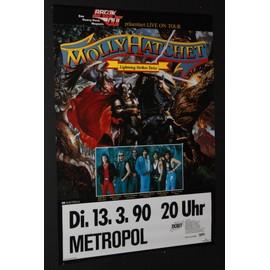 Molly Hatchet - Molly Hatchet - Lightning Strikes Twice 1990 Original Concert Tour Poster  - AFFICHE / POSTER envoi en tube - 59x84cm