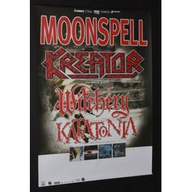 Moonspell - Moonspell - Kreator + Others - Butterfly Effect 1999 Original Concert Blank Tour Poster  - AFFICHE / POSTER envoi en tube - 59x84cm