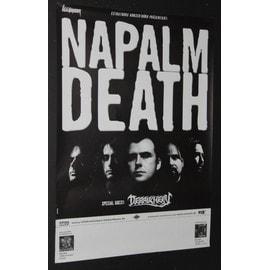 Napalm Death - Napalm Death - Order Of The Leech 2002 Original Concert Blank Tour Poster  - AFFICHE / POSTER envoi en tube - 59x84cm