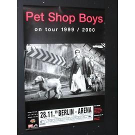 Pet Shop Boys - PET SHOP BOYS ORIGINAL 1999 BERLIN CONCERT GIGTOUR PROMO POSTER - AFFICHE / POSTER envoi en tube - 59x84cm