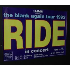 RIDE  - RIDE - Going Blank Again 1992 Original Concert Tour Dates Poster  (Purple) - AFFICHE / POSTER envoi en tube - 59x84cm
