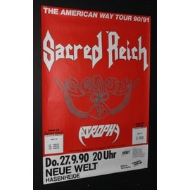 Sacred Reich  - Sacred Reich + Guests Atrophy - The American Way 1990 Original Concert Tour Poster - AFFICHE / POSTER envoi en tube - 59x84cm