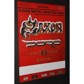Saxon - Saxon & Doro + Guests - Xmas Metal 03' Concert Blank Tour Poster - AFFICHE / POSTER envoi en tube - 59x84cm