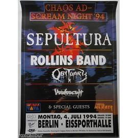 Sepultura - Sepultura + Special Guests - Scream Night 1994 Original Concert Tour Poster - AFFICHE / POSTER envoi en tube - 59x84cm