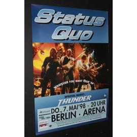 Status Quo - Status Quo + Thunder - Whatever You Want 1998 Original Concert Tour Poster - AFFICHE / POSTER envoi en tube - 59x84cm