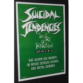 Suicidal Tendencies - Suicidal Tendencies - Art Of Rebellion (1992) - AFFICHE / POSTER envoi en tube - 59x84cm