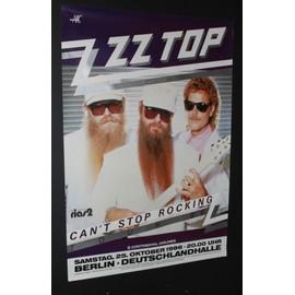 ZZ Top - ZZ Top - Can't Stop Rocking 1986 Original Concert Tour Poster  - AFFICHE / POSTER envoi en tube - 59x84cm