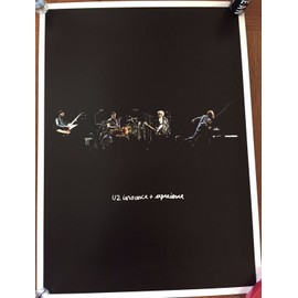 U2 - Innocence + experence - Lithographie - Stage - AFFICHE / POSTER envoi en tube - 42x59cm