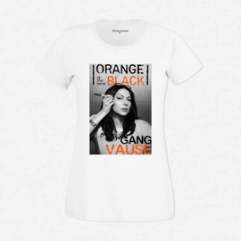 T-Shirt Femme Blanc Orange is the New Black - VAUSE