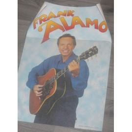 Affiche originalé années 80 40x60cm chanteur FRANK ALAMO