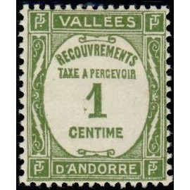 TIMBRE TAXE ANDORRE N°16 NEUF**