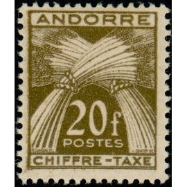 TIMBRE TAXE ANDORRE N°31 NEUF**