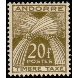 TIMBRE TAXE ANDORRE N°39 NEUF**