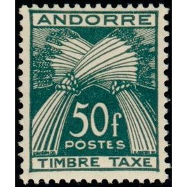 TIMBRE TAXE ANDORRE N°40 NEUF**