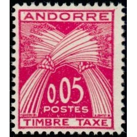 TIMBRE TAXE ANDORRE N°42 NEUF**