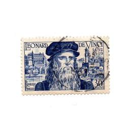 France- 1 timbre oblitéré- Léonard de Vinci- Faciale 30F- N°929