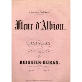 FLEUR D'ALBION - MAZURKA POUR PIANO