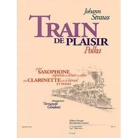train de plaisir polka pour saxophone soprano ou ténor ou alto, ou clarinette en si bémol et piano - arr. A. Ghidoni