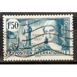 France - Exposition Internationale Paris 1937 1f50 Bleu-Vert (Superbe n° 336) Obl - N16557