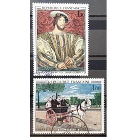 France - Douanier Rousseau - Carriole du Père Juniet 1,00 (N° 1517) + Jean Clouet - François 1er 1,00 (N° 1518) Obl - Année 1967 - N16503