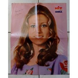 """poster géant """" hit magazine """" recto verso : sheila ( couleurs ) / elvis presley ( noir & blanc )"""