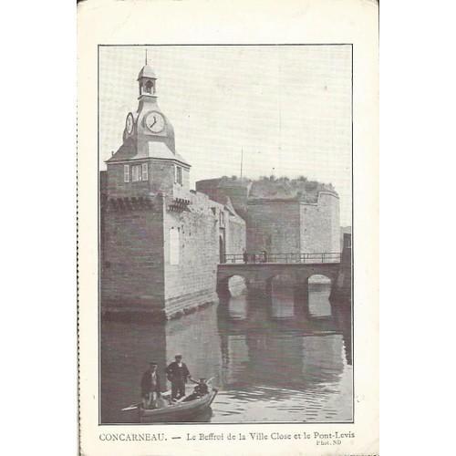 Concarneau beffroi de la ville close et pont <strong>levis</strong>