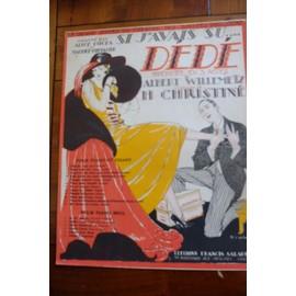 SI J'AVAIS SU.... de l'opérette DEDE, Maurice Chevalier, Christiné