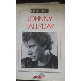 LIVRE D OR JOHNNY HALLYDAY PARTITION PIANO GUITARE