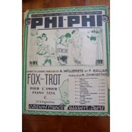 POUR L'AMOUR Piano seul FOX-TROT (opérette PHI-PHI) H.Christiné