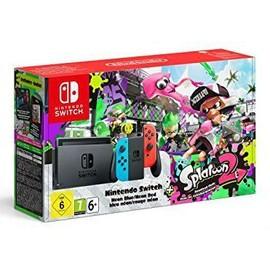 Image Console Nintendo Switch Avec Joy Con Rouge Néon/Bleu Néon + Splatoon 2