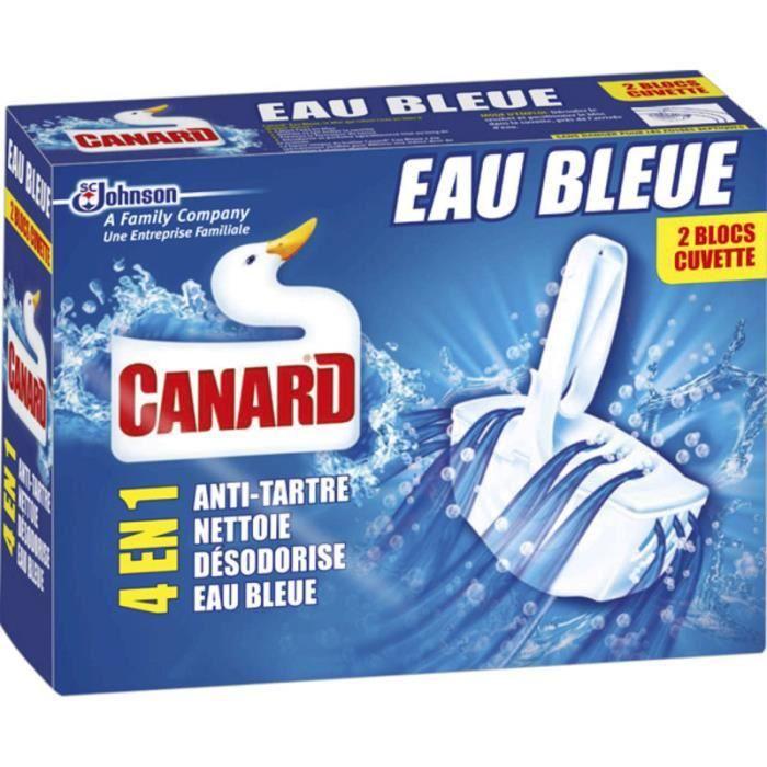 Canard wc bloc cuvette eau bleue - 2 blocs
