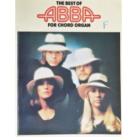 """the best of abba for chord organ """" partition, song book """" 12 morceaux"""