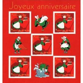 france 2005, timbres pour anniversaires, centenaire de bécassine (joseph prophyre pinchon) très beau bloc feuillet 83, 5 timbres yvert n° 3778, neuf** luxe