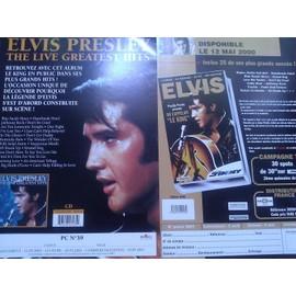 Elvis Presley - 2 leaflet promo - Live Greatest- On l'appelait le King