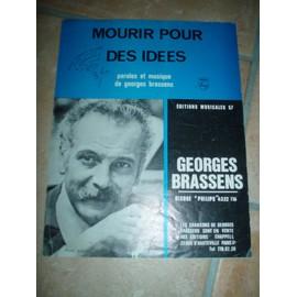 GEORGES BRASSENS PARTITION MOURIR POUR DES IDEES.