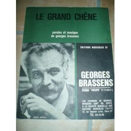 PARTITION GEORGES BRASSENS LE GRAND CHENE.