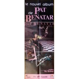 affiche ( format 60X160 cm pliée d'origine ) Pat Benatar, album Tropico, 1984