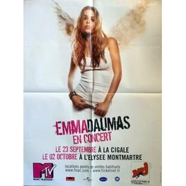 affiche format 60X80 cm pliée d'origine, Emmas Daumas en concert