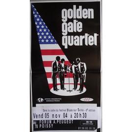 affiche ( format 30X60 cm pliée d'origine ) Golden gate quartet, 2004