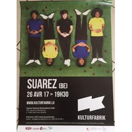 SUAREZ - Concert 2017 - 60x80cm - AFFICHE / POSTER envoi en tube