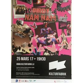 Birdy Nam Nam - Concert 2017 - 60x80cm - AFFICHE / POSTER envoi en tube