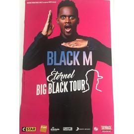 Black M - Big Black Tour - 40x60cm - AFFICHE / POSTER envoi en tube