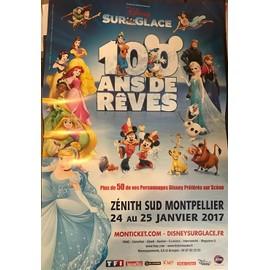 Disney Sur Glace - Princesses et personnages 2017 - 80x120cm - AFFICHE / POSTER envoi en tube