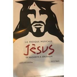 Jésus de Nazareth - Comédie Musicale / Pascal OBISPO - 40x60cm - AFFICHE / POSTER envoi en tube