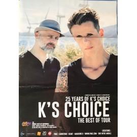 K's Choice - The Best Of Tour - 70x100cm - AFFICHE / POSTER envoi en tube