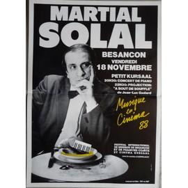 affiche ( format 40X60 cm pliée en deux ) Martial Solal Besançon 1988, Jazz