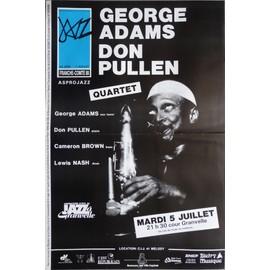 affiche de jazz ( format 40X60 cm pliée en deux ) George Adams et Don Pullen quartet, Besançon 1988
