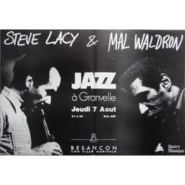 affiche ( format 50X70 cm pliée d'origine ) de jazz, Steve Lacy et Mal Waldron, Besançon fin années 80